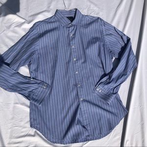POLO BY RALPH LAUREN DRESS SHIRT STRIPED BLUE